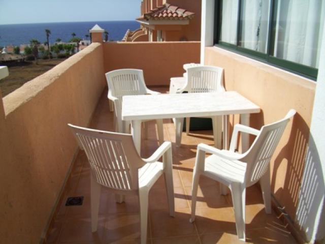 Balcony with Sea View - Terrazas de la Paz, Golf del Sur, Tenerife